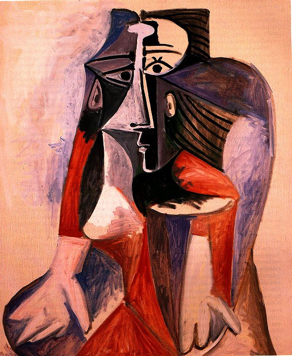 Picasso Seated woman. Jacqueline 1960